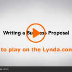 Screenshot of the opening screen of the Lynda.com video Overview of Business Proposals