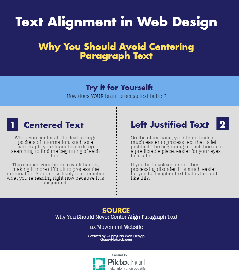 Text Alignment in Web Design